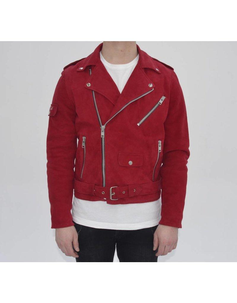 Red Suede Biker