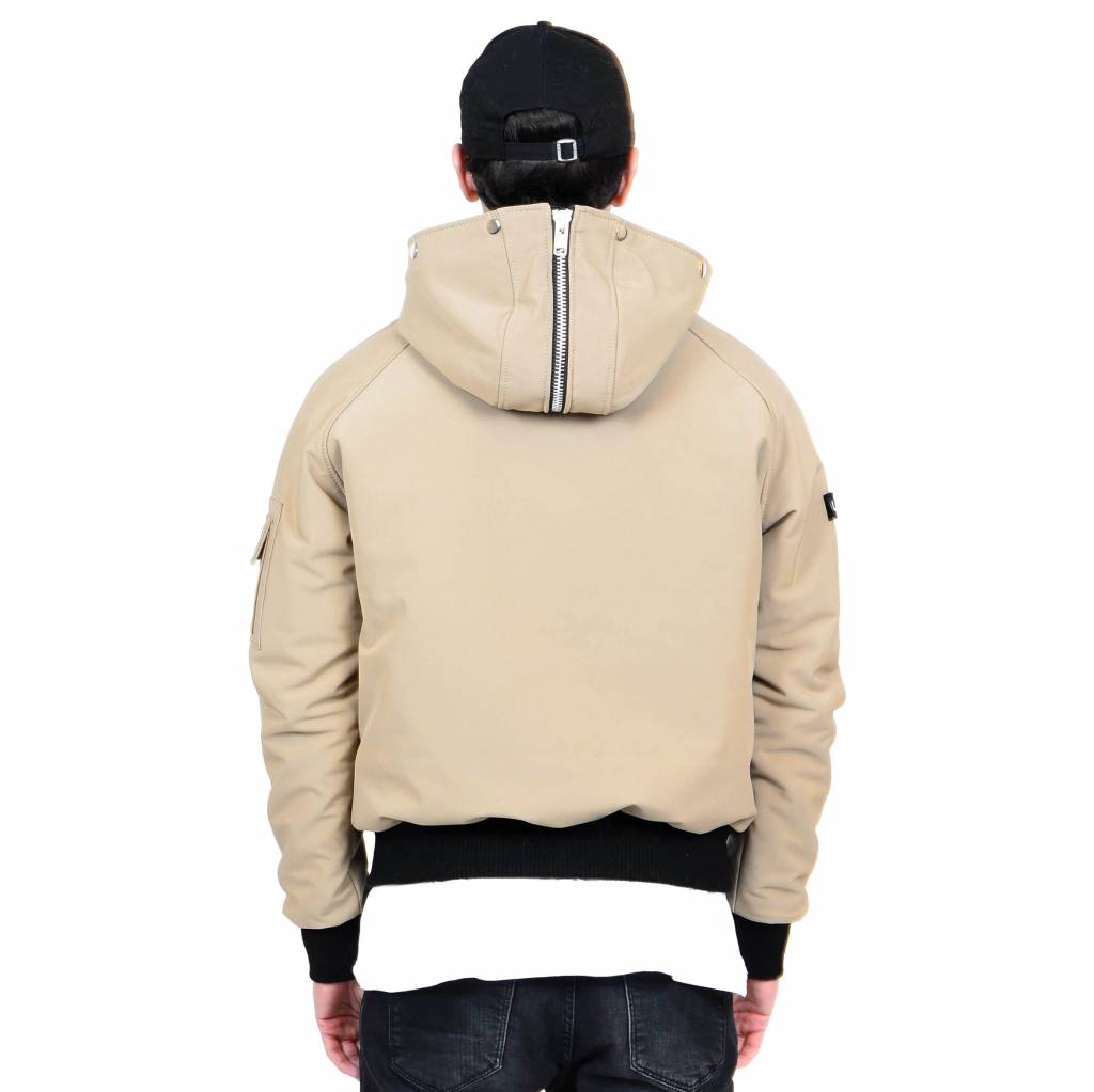 Beige Winter Bomber