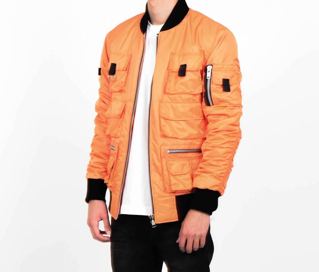 Orange Multi-Pocket Bomber