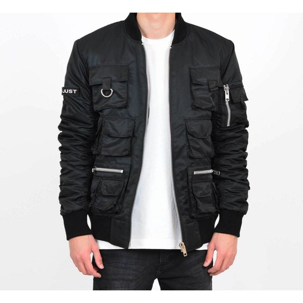 Black Multi-Pocket Bomber
