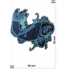 Fisch, Poisson, Fish Fish - blue - left - Fisch links