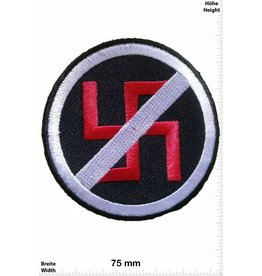 No Nazi NO / STOP Nazi - schwarz
