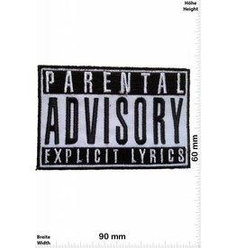 Parental Advisory Parental Advisory Explicit LYRICS - schwarz/schwarz