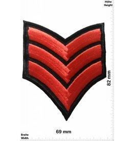 Sergant 3 Streifen rot  - Sergant