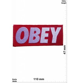 Obey Obey - rot/silber- rot/silber