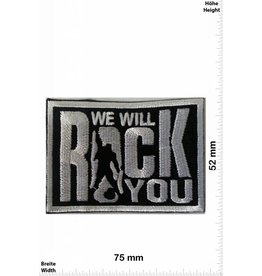 Rock n Roll We will Rock you -silber-  7,5 CM