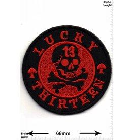 Lucky 13 Lucky Thirteen - 13 - Totenkopf  - rot