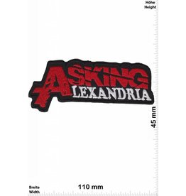 Asking Alexandria  Asking Alexandria - rot -silber