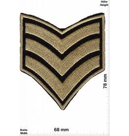 Sergant 3 Streifen - gold -  Sergant