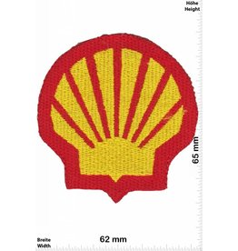 Shell SHELL - red -gold - mussel