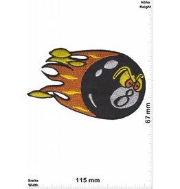 8 Ball Billard - black - eight Ball-  8 - Flame
