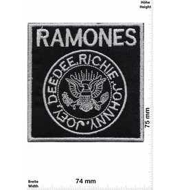 Ramones Ramones - DeeDee - Richie - Johnny - Joey - silber - Punk -Music
