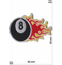 8 Ball 8 Ball flame -  schwarz 8 - schwarze 8 - Billardkugel mit Flammen -