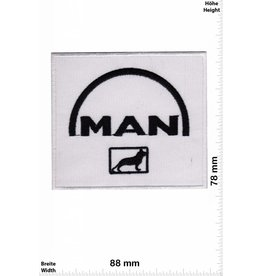 MAN MAN  - white  black - Logo
