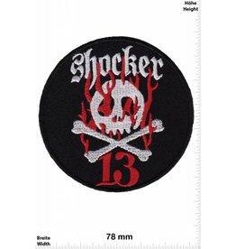 Lucky 13 Shocker 13 - Totenkopf - Skull - rund