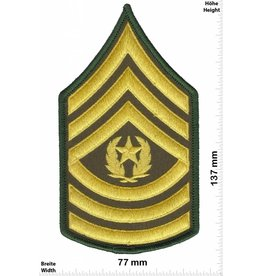 Sergant Command Sergeant Major - 3 Streifen - gold - BIG - mit Lorbeerkranz
