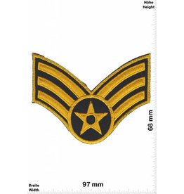 Sergant 3 Stripes - with star - gold - Sergant