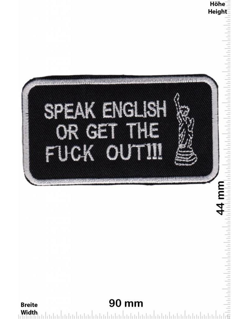 sprüche, claims speak english or get the fuck out !!! - fun biker