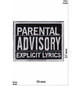 Parental Advisory Parental Advisory Explicit LYRICS - schwarz silber /schwarz silber - US Patch -