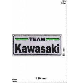 Kawasaki Team Kawasaki  - weiss schwarz - rechteck