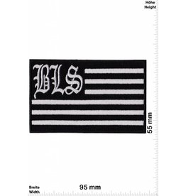 Black Label Society Black Label Society - silver Flag - BLS - rectangle