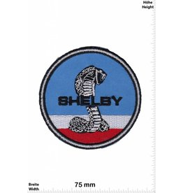 Shelby Shelby - Mustang  -blau-weiss-rot  - Auto - US Car Patch