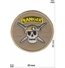 Army Ranger - rund - Totenkopf