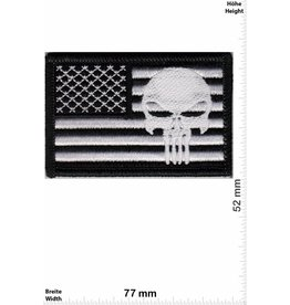 Punisher Punisher - Flagge USA - Army - schwarz weiss