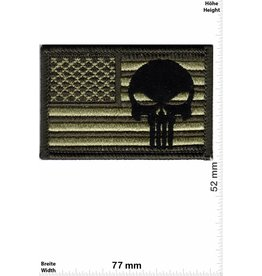 Punisher Punisher - Flagge USA - Army - grün schwarz