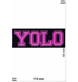YOLO YOLO - neonpink