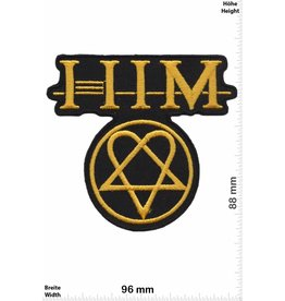 Him HIM - gold - big -His Infernal Majesty -Dark-Rock-Genre