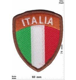 Italien, Italy Italia - Wappen - Italien - braun - HQ