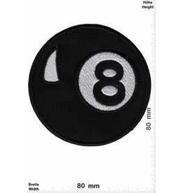 8 Ball Schwarze Acht - big - black eight - Billiard