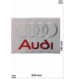 Audi Audi -  silver red white - 24 cm - BIG