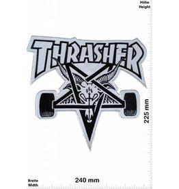 Thrasher Thrasher - weiss - schwarz - 24 cm - BIGSkateboard - Skater - Wheels - Extremsport - Skater