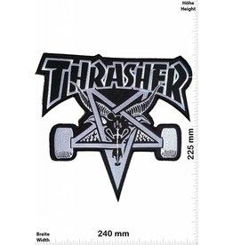 Thrasher Thrasher - schwarz - 24 cm - BIGSkateboard - Skater - Wheels - Extremsport - Skater
