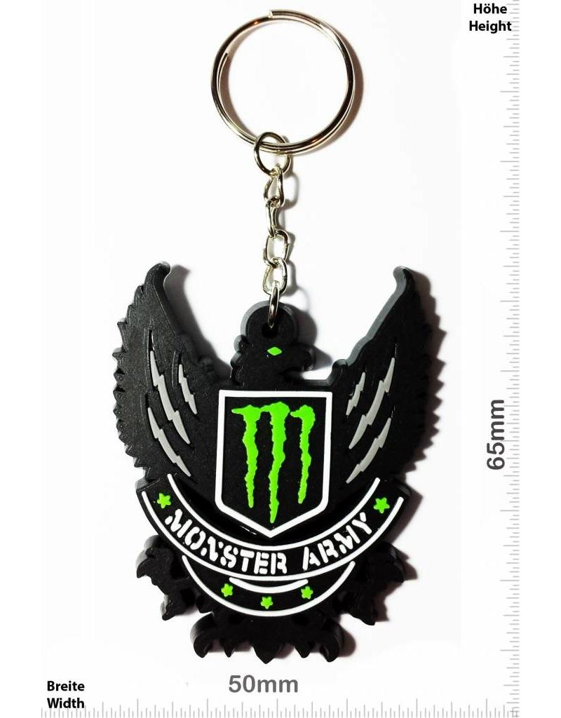 Monster Energy Monster Army Green Patch Keychains