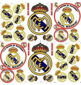 F4 Bögen 6 Aufkleberbögen (F4) FC Real Madrid - Krone - Primera División - Soccer Spain - Fußball