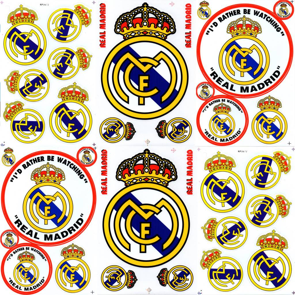 F4 bögen 6 sticker sheets f4 fc real madrid krone primera división