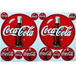 F3 Bögen 2 Aufkleberbögen 2x (F3) Coca Cola 2 -