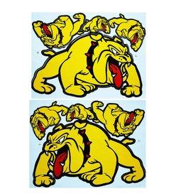 F3 Bögen 2 Aufkleberbögen 2x (F3) Bulldog - gelb -