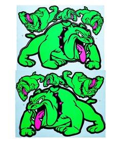 F3 Bögen 2 Aufkleberbögen 2x (F3) Bulldog - grün -