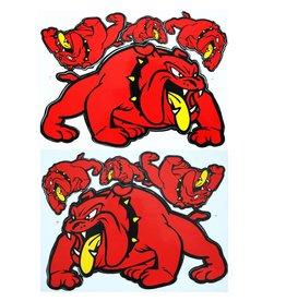 F3 Bögen 2 Sticker Sheets 2x (F3) Bulldog - red -
