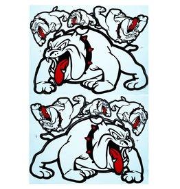 F3 Bögen 2 Sticker Sheets 2x (F3) Bulldog - white-
