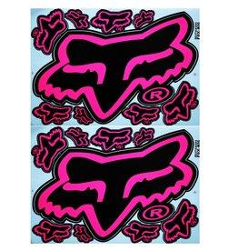 F3 Bögen 2 Aufkleberbögen 2x (F3) FOX pink/schwarz-