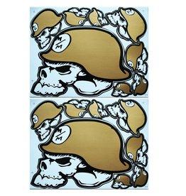 F3 Bögen 2 Sticker Sheets 2x (F3) Metal Mulisha gold-