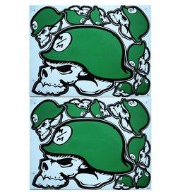 F3 Bögen 2 Sticker Sheets 2x (F3) Metal Mulisha green-