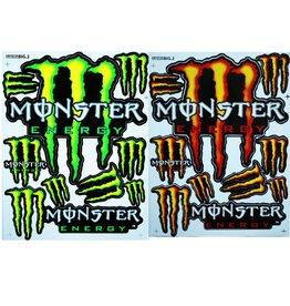 F3 Bögen 2 Aufkleberbögen 2x (F3) Energy Drink- Monster Energy - Mix 4