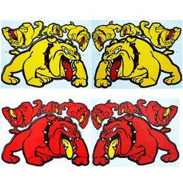 F3 Bögen 4 Sticker Sheets 4x (F3) Bulldog Mix 1