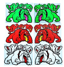 F3 Bögen 6 Aufkleberbögen 6x (F3) Bulldog Mix 3 -